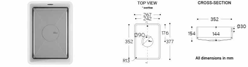 corian sparking sink 9502